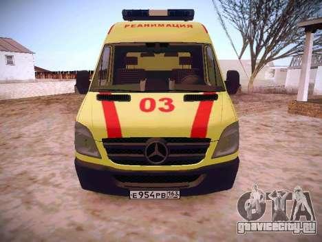 Mercedes Benz Sprinter Ambulance для GTA San Andreas вид слева