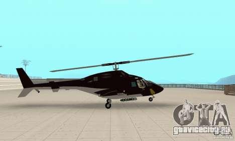 Airwolf для GTA San Andreas вид сзади слева