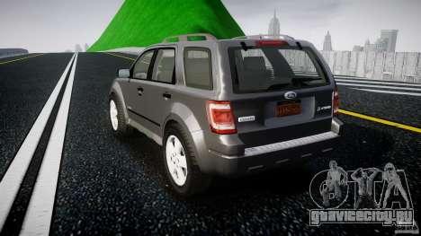Ford Escape 2011 Hybrid Civilian Version v1.0 для GTA 4 вид сзади слева