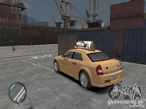 Chrysler 300c Taxi v.2.0 для GTA 4 вид слева