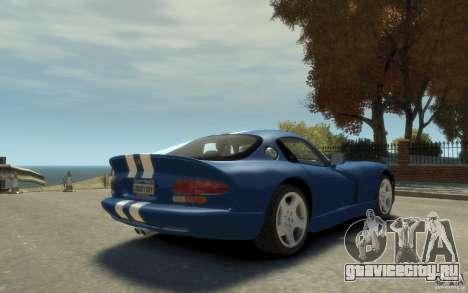 Dodge Viper GTS для GTA 4 вид справа