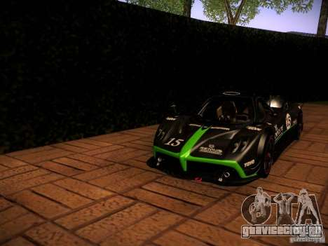 Pagani Zonda R для GTA San Andreas вид сверху