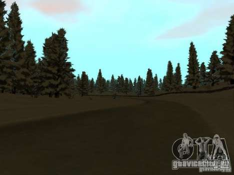 Зимняя трасса для GTA San Andreas третий скриншот