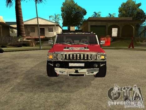 Hummer H2 Diablo для GTA San Andreas вид слева