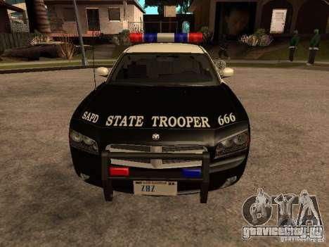 Dodge Charger RT Police для GTA San Andreas вид сзади слева