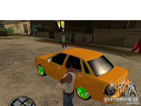 ВАЗ 2174 Priora Crazy Taxi для GTA San Andreas вид слева