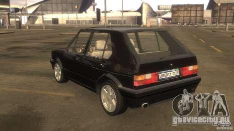 Volkswagen Golf для GTA 4 вид сзади
