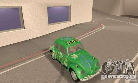 Volkswagen Beetle 1963 для GTA San Andreas вид снизу