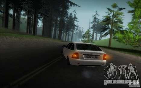 ВАЗ 2172 v2 для GTA San Andreas вид изнутри
