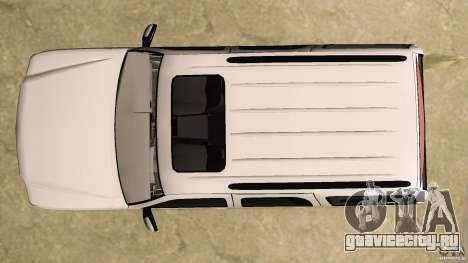 Cadillac Escalade для GTA Vice City вид сверху