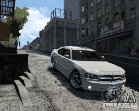 Dodge Charger RT 2006 для GTA 4 вид сзади слева