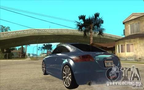 Audi TT 3.2 Coupe для GTA San Andreas вид сзади слева