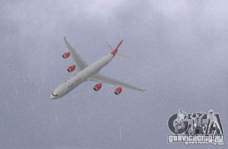 Airbus A340-600 Virgin Atlantic для GTA San Andreas вид слева