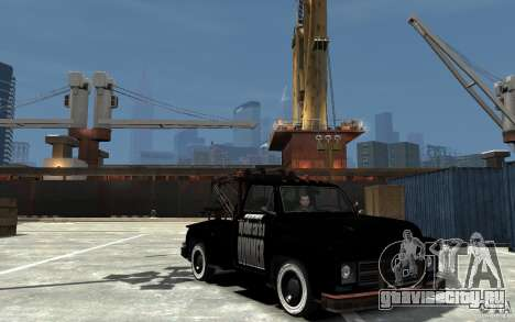 Black Towtruck для GTA 4 вид сзади