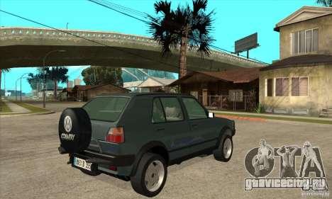 Volkswagen Golf Country MkII Syncro 4x4 1991 для GTA San Andreas вид справа