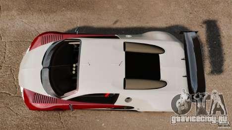 Bugatti Veyron 16.4 Body Kit Final Stock для GTA 4 вид справа