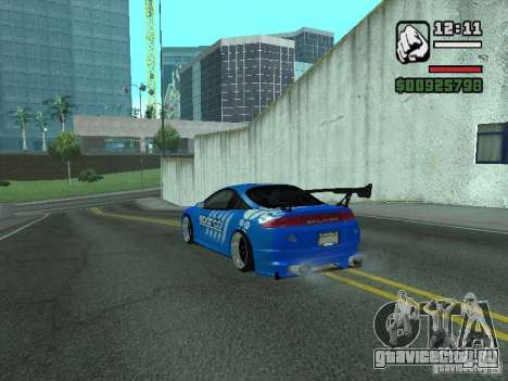Mitsubishi Eclipse Tunning для GTA San Andreas вид сзади слева