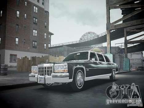 Cadillac Fleetwood 1985 для GTA 4 вид изнутри
