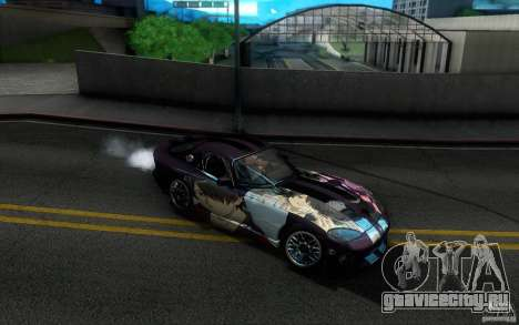 Dodge Viper GTS Coupe TT Black Revel для GTA San Andreas вид сверху