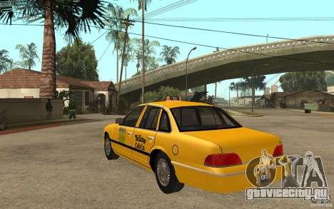 Ford Crown Victoria Taxi 1992 для GTA San Andreas вид сзади слева