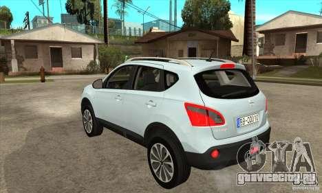 Nissan Qashqai 2011 для GTA San Andreas вид сзади слева