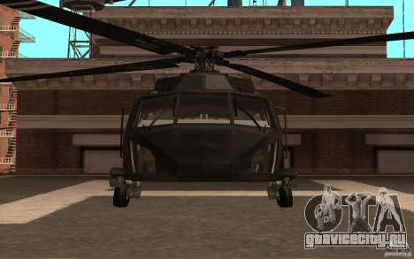 Black Hawk from BO2 для GTA San Andreas вид слева