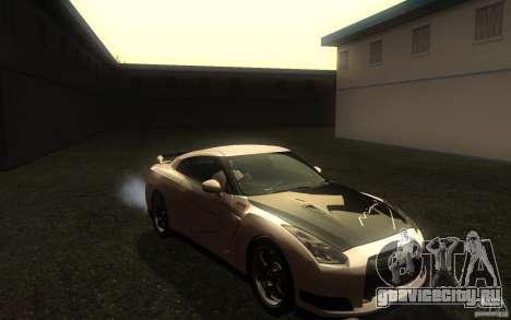 Nissan GTR R35 Spec-V 2010 для GTA San Andreas вид сзади