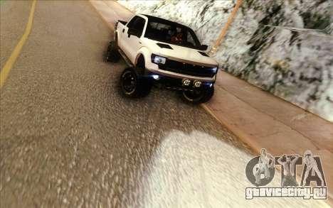 Ford F-150 Carryer Metal Mulisha для GTA San Andreas вид сзади