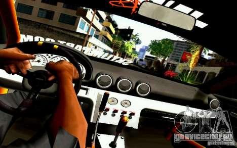 Nissan Silvia S15 Drift Works для GTA San Andreas вид изнутри