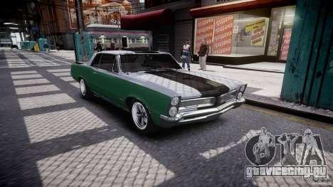 Pontiac GTO 1965 v3.0 для GTA 4 вид изнутри