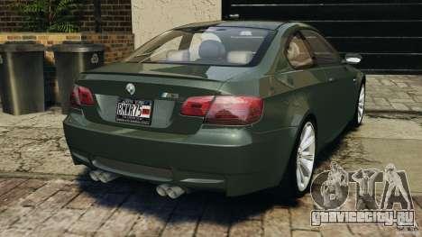 BMW M3 E92 2007 v1.0 [Beta] для GTA 4 вид сзади слева
