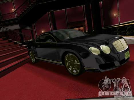 Bentley Continental GT для GTA Vice City вид сзади слева