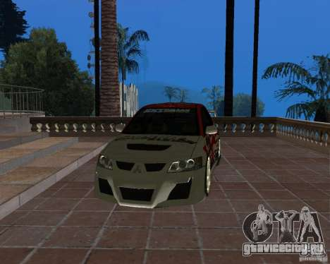 Mitsubishi Lancer Evolution VIII для GTA San Andreas вид сбоку
