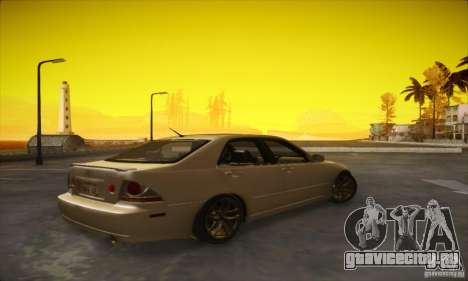 Lexus IS 300 для GTA San Andreas вид сзади слева