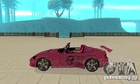 Honda S2000 The Fast and Furious для GTA San Andreas вид сзади слева