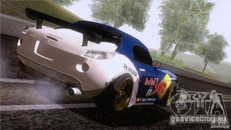 Pontiac Solstice Redbull для GTA San Andreas вид сзади слева