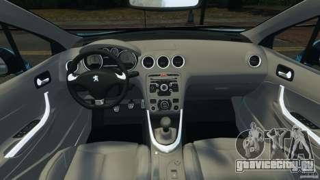 Peugeot 308 GTi 2011 v1.1 для GTA 4 вид сзади