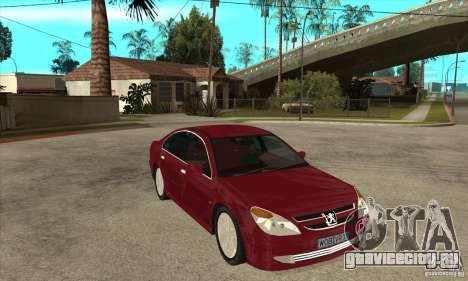 Peugeot 607 для GTA San Andreas вид сзади