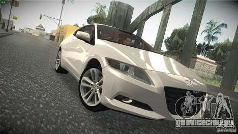 Honda CR-Z 2010 V1.0 для GTA San Andreas вид изнутри