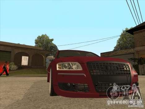 Audi A8 Switze для GTA San Andreas вид сзади