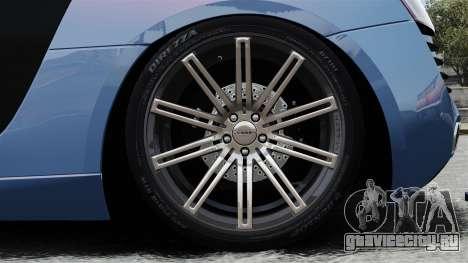 Audi R8 для GTA 4 вид сзади