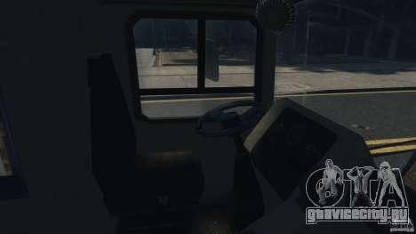 London City Bus для GTA 4 вид изнутри