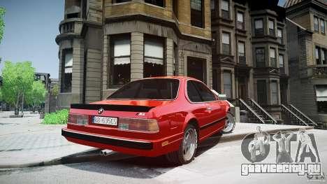 BMW M6 v1 1985 для GTA 4 вид сзади слева