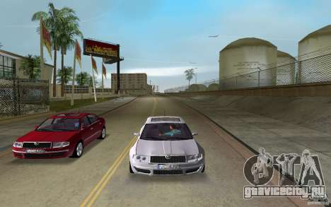 Skoda Superb 2.2 v.4 final для GTA Vice City вид сзади слева