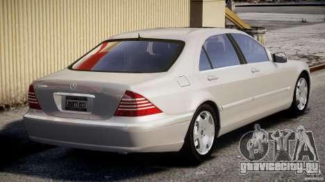 Mercedes-Benz W220 для GTA 4 вид сзади слева