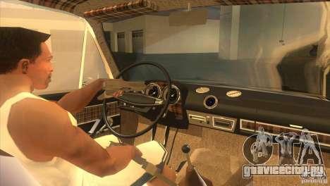 ВАЗ 2103 Resto для GTA San Andreas вид изнутри