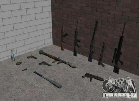 Оружие из GTA IV для GTA San Andreas