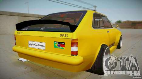 Opel Kadett D GTE Mattig Tuning для GTA San Andreas вид сзади слева