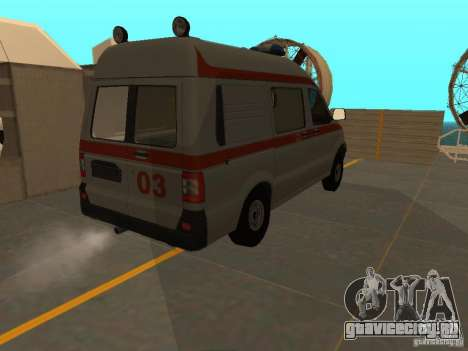 УАЗ Симба Скорая помощь для GTA San Andreas вид сзади