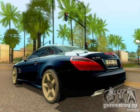 Mercedes-Benz SL350 2013 для GTA San Andreas вид сбоку